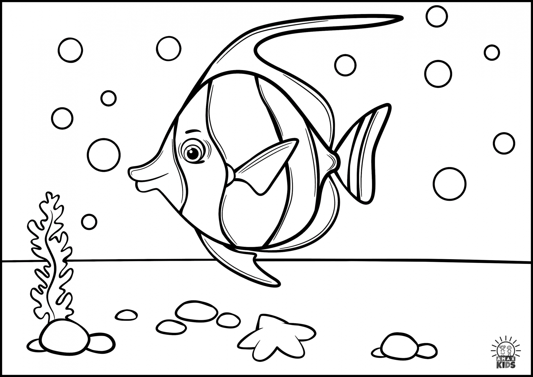 Coloring pages for kids with sea creatures | Amax Kids