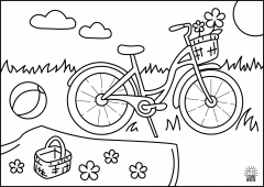 ColoringPage.Bicycle1